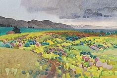 "Nipomo Mustard by Carolyn Lord Watercolor ~ 15"" x 22"""