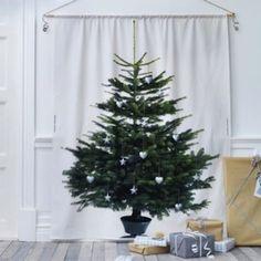 natal compacto - tecido com estampa de árvore Ikea <3