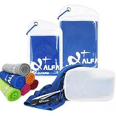 Alfamo Cooling Towel for Sports, Workout, Fitness, Gym, Yoga, Pilates, Travel, Camping & More $7.99 - $19.99