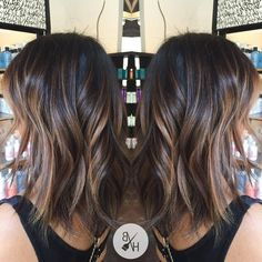 balayage brunette for medium hair Long Hair Styles, Beauty, Beleza, Long Hairstyle, Cosmetology, Long Hairstyles, Long Hair Cuts, Long Hair Dos