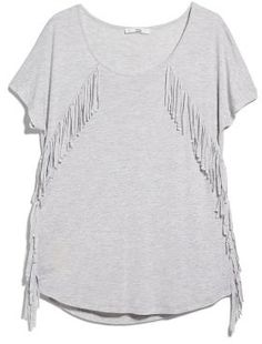 MANGO フリンジTシャツ  / Fringe T -shirt on ShopStyle