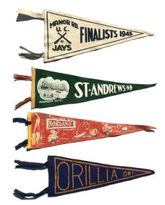pennants » I've been wanting to collect these for years now, guess I should start!