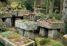 If you have a particularly difficult piece of land you can't seem to fill or an area that is relatively devoid of sunlight inhibiting anything from growing there, why not create a stone garden? Playing on the artistic garden statue idea, these stone pieces would make an interesting addition to all sorts of spaces.
