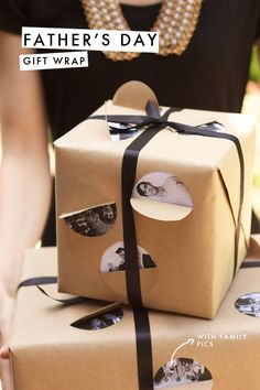 DIY peek-a-boo gift wrap the The House That Lars Built Diy Father's Day Gifts, Father's Day Diy, Cool Gifts, Fathers Day Gifts, Best Gifts, Wrapping Gift, Creative Gift Wrapping, Wrapping Ideas, Creative Gifts