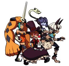 See more 'Skullgirls' images on Know Your Meme! Skullgirls Peacock, Game Character, Character Design, Cartoon Games, Fan Art, Fighting Games, Happy Fun, Monster Girl, Video Game Art