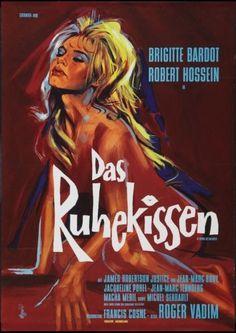 LOVE-ON-A-PILLOW-Le-REPOS-DU-GUERRIER-German-A1-movie-poster-BRIGITTE-BARDOT-NM