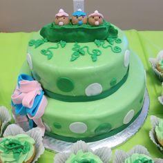 Baby shower cake for triplets!