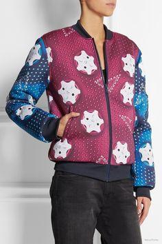 adidas Originals Mary Katrantzou padded neoprene bomber jacket