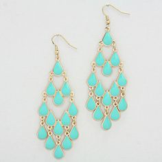 Lani Chandelier Earrings in Mint