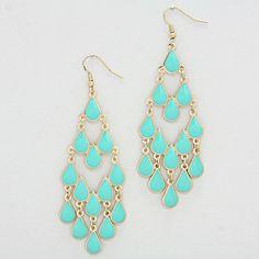 Lani Chandelier Earrings in Mint on Emma Stine Limited