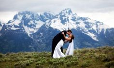 Grand Teton Park Wedding....  It was sooo beautiful here, I would love to renew my vows (again) here!