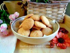 Biscotti con farina di mandorle e yogurt greco New Cooking, Cooking Recipes, Ricotta, Biscuits, Almond, Cereal, Gluten Free, Vegan, Cookies