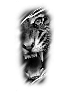 Tiger Eyes Tattoo, Tiger Tattoo Sleeve, Lion Head Tattoos, Tiger Tattoo Design, Tattoo Design Drawings, Best Sleeve Tattoos, Dope Tattoos, Body Art Tattoos, Tattoo Designs