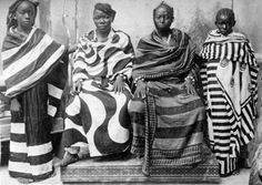 dynamicafrica: katebomz: Undulating black and white stripes- and staccato-geometry patterns, #Zanzibar Fashion 1900 ca. Via Ben Huser