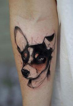 Kamil Mokot dog tattoo #DogTattooIdeas