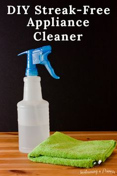 A cheap DIY appliance cleaner that doesn't leave streaks!! This is awesome!