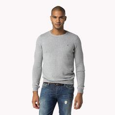 Hilfiger Denim Malden Unifarben Pullover - light grey heather (Grau) - Hilfiger Denim Pullover - Hauptbild