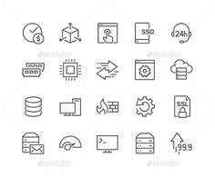 Line Hosting Icons