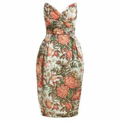 floral strapless dress by ZIMERMANN