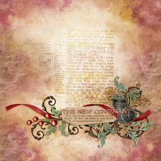 The New Covenant uploaded in Elisha Barnett: This is a favorite piece of scripture of mine, from Jeremiah 31 (photo of the page blended into the back...