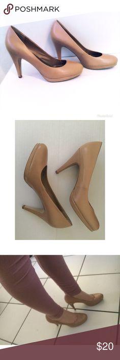 Franco Sarto Napoli Leather Pump Heels