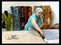 Шелковый шарф из войлока - YouTube