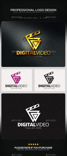 Digital Video Logo Template Vector EPS, AI. Download here: http://graphicriver.net/item/digital-video-logo-template/11499656?ref=ksioks