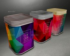 Mock up your Tea Square canister designs – works for coffee, candy or gift packaging designs too   3 PSD mock-ups with lots of different possibilities (click to see Preview samples) Different can f...