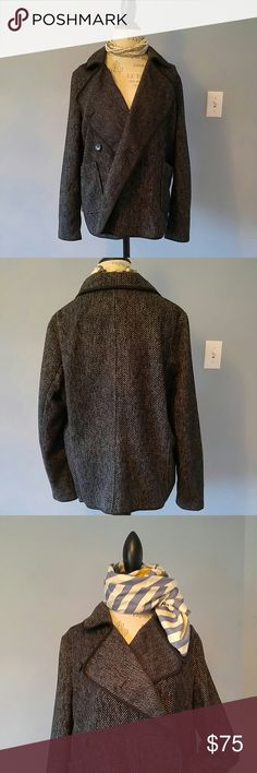 HOST PICK: REDUCED TWEED FALL JACKET Lightweight, Black and grey jacket with pockets. Beautiful quality, lined sleeves, exceptional quality tweed. Worn indoors or as an outdoor jacket. Can be worn buttoned as a blazer or left open for a cascading look. It is super easy and comfortable to wear. BRAND NEW WITH TAGS. Chanel scarf sold separately. Lucky Brand Jackets & Coats Blazers