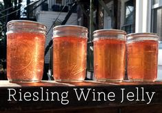 Riesling wine jelly!