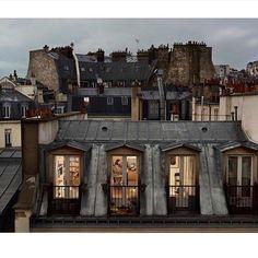 Art Parisien, Paris Neighborhoods, Paris Rooftops, Grande Hotel, Little Paris, Belle Villa, Paris Apartments, Parisian Apartment, Through The Window