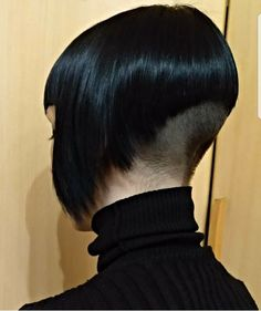 Copper Layered Bob with Bangs - 50 Classy Short Bob Haircuts and Hairstyles with Bangs - The Trending Hairstyle Girls Short Haircuts, Short Bob Hairstyles, Hairstyles With Bangs, Girl Hairstyles, Shaved Bob, Shaved Nape, Short Hair Cuts, Short Hair Styles, Bald Girl