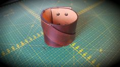Brown Custom Handmade Leather Bracelet - Cuff Men's Women's Unisex by CrusaderArmoury