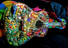Blue Moose designed and decorated Guitar
