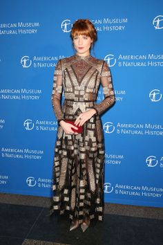 Florence Welch wears a Valentino gown from the Spring Summer 2014 collection at the American Museum Of Natural History's 2013 Museum Gala on November 21st 2013 in New York