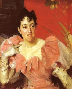 """Anders Zorn (1860-1920) Mrs. Walter Bacon Oil on canvas 1891 180.34 x 149.86 cm (71"""" x 59"""")"""