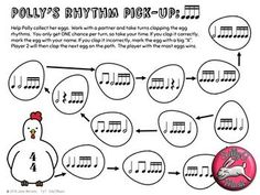 Spring Music Class Printable Board Game-All you need is a pencil! #musiced #musicclass