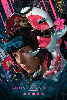 Ghost in the Shell - Created by Ruiz Burgos