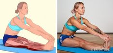 18 Illustrations qui montrent clairement quels muscles tu es en train d'étirer Wellness Fitness, Yoga Fitness, Fitness Tips, Muscle Stretches, Stretching Exercises, Downward Facing Dog, Leg Press, Back Muscles, Trainer