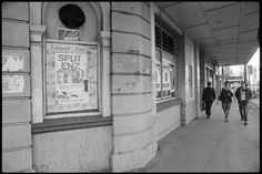 Posters on the windows of the old Duke of Edinburgh Hotel, corner of Manners and Willis Streets, Wellington, advertising concerts by Split Enz and . Old Pictures, Old Photos, Edinburgh Hotels, Wellington New Zealand, The Hutt, Poster On, British Isles, Manners, Duke
