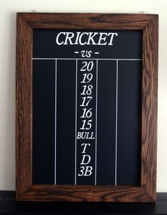 Vintage Looking Dart Cricket Chalkboard Scoreboard Made from Salvaged Oak | eBay