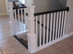 TDA decorating and design: DIY Stair Banister Tutorial - Part 2, Replacing the Spindles and Finishing Info