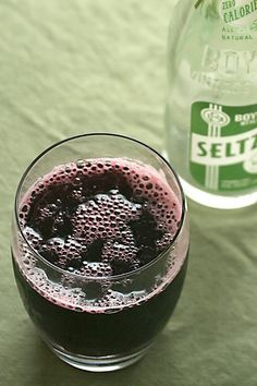 Blackberry-Verbena Syrup - and other ideas for homemade soda water flavors.