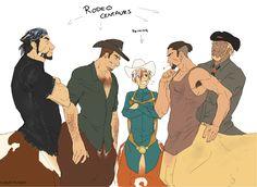 Buzzsaw, Tabasco, Aerick, Devil's Dancer, and Gunner