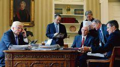 Le président américain crée un «conseil de guerre»pour riposteraux médias et aux agents fédéraux.