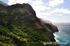 The Kalalau Trail - Waiahuakua Valley view