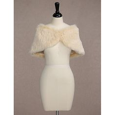 1a137cb02 Sleeveless Faux Fur Wedding Party Evening Women's Wrap With Button Capelets  2017 - $8.49 Wedding Wraps