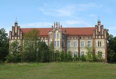 Manor house in Walow, disctrict Mecklenburgische Seenplatte, Mecklenburg-Vorpommern, Germany