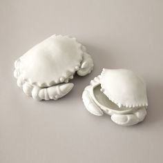 Porcelain crab boxes.