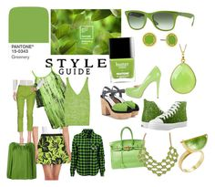 """""""Pantone Color of the Year: Greenery"""" by alainab2231 ❤ liked on Polyvore featuring Cecilia Pradomurion, M Missoni, MICHAEL Michael Kors, Missoni, Dorothee Schumacher, Brian Atwood, Prada, Marc Jacobs, 1928 and Amrapali"""